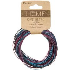 Variegated Hemp Cord, 15yds- Cool River