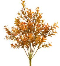 "Boxwood Bush, 16""- Amber/Green"