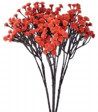"Fall Mini Blossom Spray, 16""- Orange"