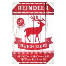 Reindeer Sleigh Rides Sign