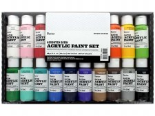 Darice 2oz Acrylic Paint Set, 20pk- Satin