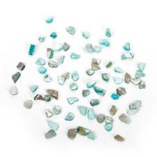 Crushed Small Shell Pieces Aqua/Green - 16oz