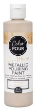 Color Pour Pre-Mixed Metallic Pouring Paint, 16oz- Champagne