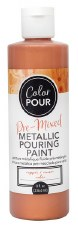 Color Pour Pre-Mixed Metallic Pouring Paint, 16oz- Copper