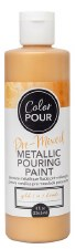 Color Pour Pre-Mixed Metallic Pouring Paint, 16oz- Gold