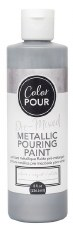 Color Pour Pre-Mixed Metallic Pouring Paint, 16oz- Silver