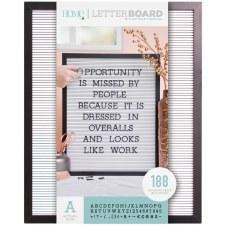 DCWV Framed Letterboard 16x20- Black w/ White Insert