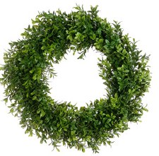 Wreath- Boxwood Two Tone, 17""