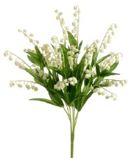 "Lily of the Valley Bush, 17""- Cream"