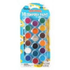 Tempera Paint Pots, 18ct