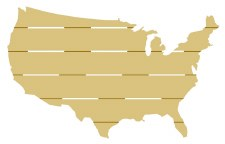 United States Pallet MDF Cut Out- 18""