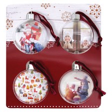 Picture Ornaments, 4pk