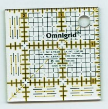 """Ruler With Grid 2.5""""x2.5"""""""