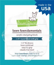 "Lawn Fawn Acrylic Block- 2.5"" Round"