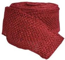 """2.5"""" Red Burlap Ribbon"""