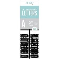 "DCWV Letterboard 2"" Letters- Black"