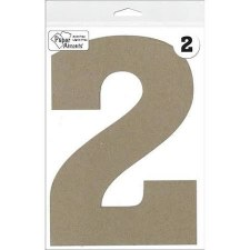 "8"" Chipboard Number- 2"