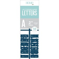 """DCWV Letterboard 2"""" Letters- Navy"""