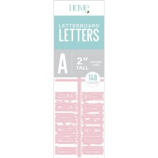 """DCWV Letterboard 2"""" Letters- Pink"""