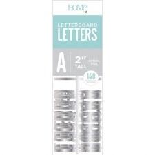 "DCWV Letterboard 2"" Letters- Silver"