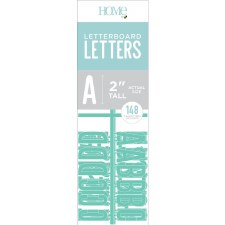 """DCWV Letterboard 2"""" Letters- Teal"""