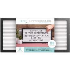 DCWV Framed Letterboard 20x10- Black w/ White Insert