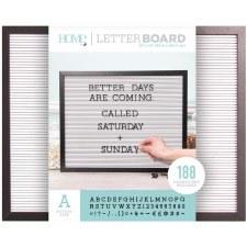 DCWV Framed Letterboard 20x16- Black w/ White Insert