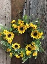"Spring Wreath, 21""- Sunflowers"