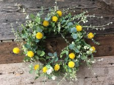 "Spring Wreath, 23""- Billy Balls & Greens"