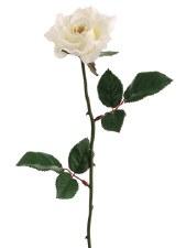 "Medium Rose Spray, 23""- White"