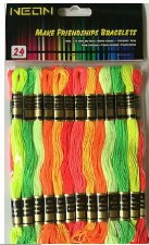 Embroidery Floss Pack, 24ct- Neon