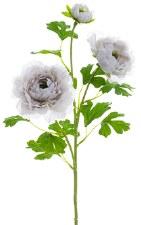 "Ranunculus Spray, 24""- Grey"