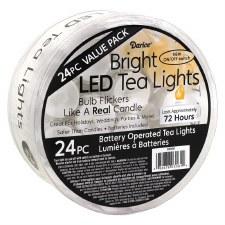 LED Tea Lights- 24 pieces
