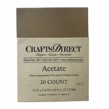 Acetate 1/4 Sheets, 25ct