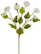"Ranunculus Spray, 26""- White"