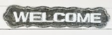 Metal Welcome Sign, 28""