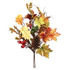 """30"""" Fall Mixed Berry, Leaf, & Pinecone Spray"""