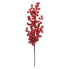 "29"" Crabapple Spray- Red"