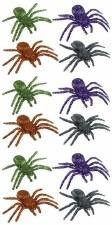 "3.25"" Glitter Spider 12/bag"