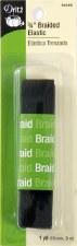 """Elastic,  3/4"""" Inch Braided - Black"""