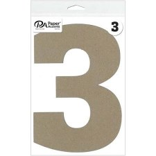 "8"" Chipboard Number- 3"