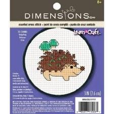 "Dimensions ""Learn a Craft"" Cross Stitch Kit- Hedgehog"