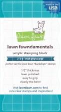 "Lawn Fawn Acrylic Block- 3""x6"""