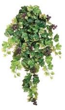 "Grape Leaf Hanging Bush w/ Grapes, 30"""