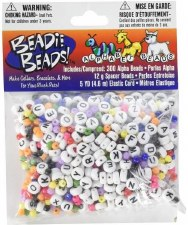 Beadie Beads White Alphabet Beads w/ Spacers