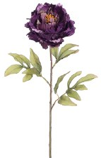 "Peony Spray, 31""- Dark Purple"
