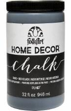 FolkArt Home Decor Chalk Paint 32oz- Rich Black