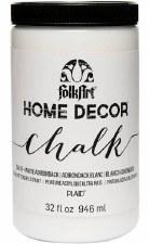 FolkArt Home Decor Chalk Paint 32oz- White Adirondack