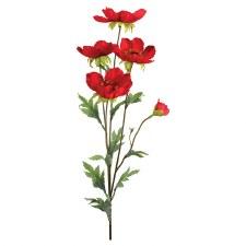 """Poppy Spray, 33.5""""- Red"""