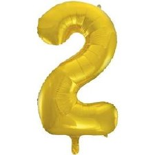 "34"" Number Balloon, Gold Foil- 2"